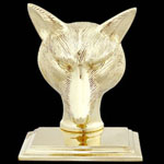 Fox Brass Bookends