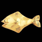 Fish Brass Drawer Pull