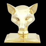 Smooth Fox Brass Bookends