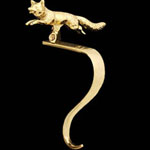 Fox Brass Stocking Holder
