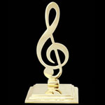 Music Clef Brass Bookends