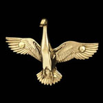 Goose Brass Coat Hook