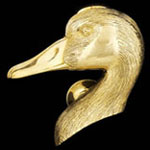 Goose Head Brass Door Knocker