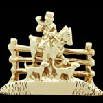 Brass Hunt Engravable Business Card Holder