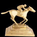 Horse and Rider Brass Bookends