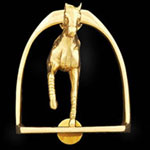 Horse In Stirrup Brass Door Knocker