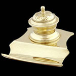 Brass Ink Pot Pen Holder