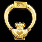 Irish Claddagh Brass Door Knocker