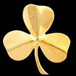 Shamrock Brass Door Knocker