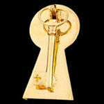 Key Brass Door Knocker