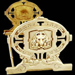 Lion Expandable Brass Book Stand