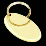 Engravable Oval Brass Luggage Tag or Key Ring