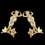 Brass Mermaid Andirons