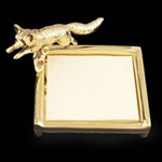 Fox Post It Note Brass Holder