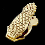 Pineapple Brass Paper Clip