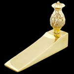 Pineapple Wedge Brass Door Stop