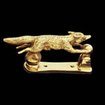 Running Fox Brass Door Knocker