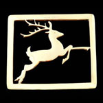 Reindeer Brass Trivet