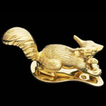 Squirrel Brass Door Knocker