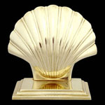 Shell Brass Bookends