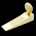 Shell Wedge Brass Door Stop