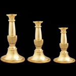 Tulip Grove Brass Candlesticks