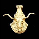 Long Horn Steer Brass Door Knocker