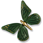 Michael Healy - Brass/Green Patina Butterfly Door Knocker
