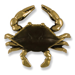 Michael Healy - Brass Blue Crab Door Knocker
