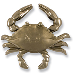 Michael Healy - Nickel Silver Blue Crab Door Knocker