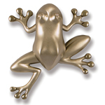 Michael Healy - Nickel Silver Frog Door Knocker