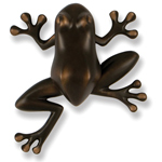 Michael Healy - Oiled Bronze Frog Door Knocker