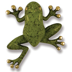 Michael Healy - Brass/Green Patina Frog Door Knocker