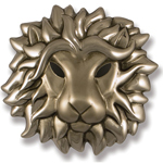 Michael Healy - Nickel Silver Lion Head Door Knocker