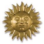 Michael Healy - Brass Sunface Door Knocker