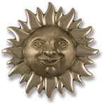 Michael Healy - Nickel Silver Sunface Door Knocker