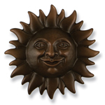 Michael Healy - Oiled Bronze Sunface Door Knocker