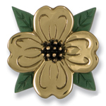 Michael Healy - Brass Dogwood Door Knocker