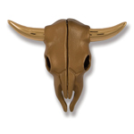 Michael Healy - Brass Steer Skull Door Knocker