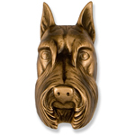 Michael Healy - Bronze Schnauzer Door Knocker