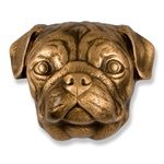 Michael Healy - Bronze Pug Door Knocker
