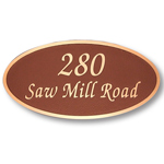 Michael Healy - 2 Line Elegant Oval Bronze Address Plaques