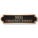 Michael Healy - 2 Line Estate Rectangle Bronze Address Plaques