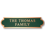 Michael Healy - 2 Line Double Arch Bronze Address Plaques