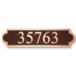 Michael Healy - 1 Line Classic Double Arch Bronze Address Plaques