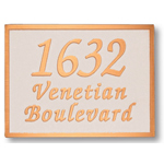 Michael Healy - 3 Line Classic Rectangle Bronze Address Plaques