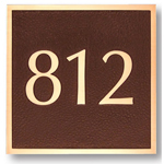 Michael Healy - 1 Line Traditional Square Bronze Address Plaques