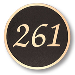 Michael Healy - 1 Line Traditional Circle Bronze Address Plaques