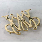 Williamsburg - Polished Brass William &amp; Mary Trivet