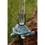 SPI Gallery - Turtle with Rain Gauge - Verdigris